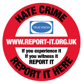 Logo: hate crime report it dot org dot U K