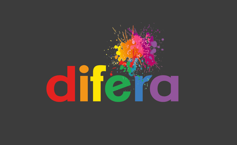 Logo: DIFERA with an added burst of colour