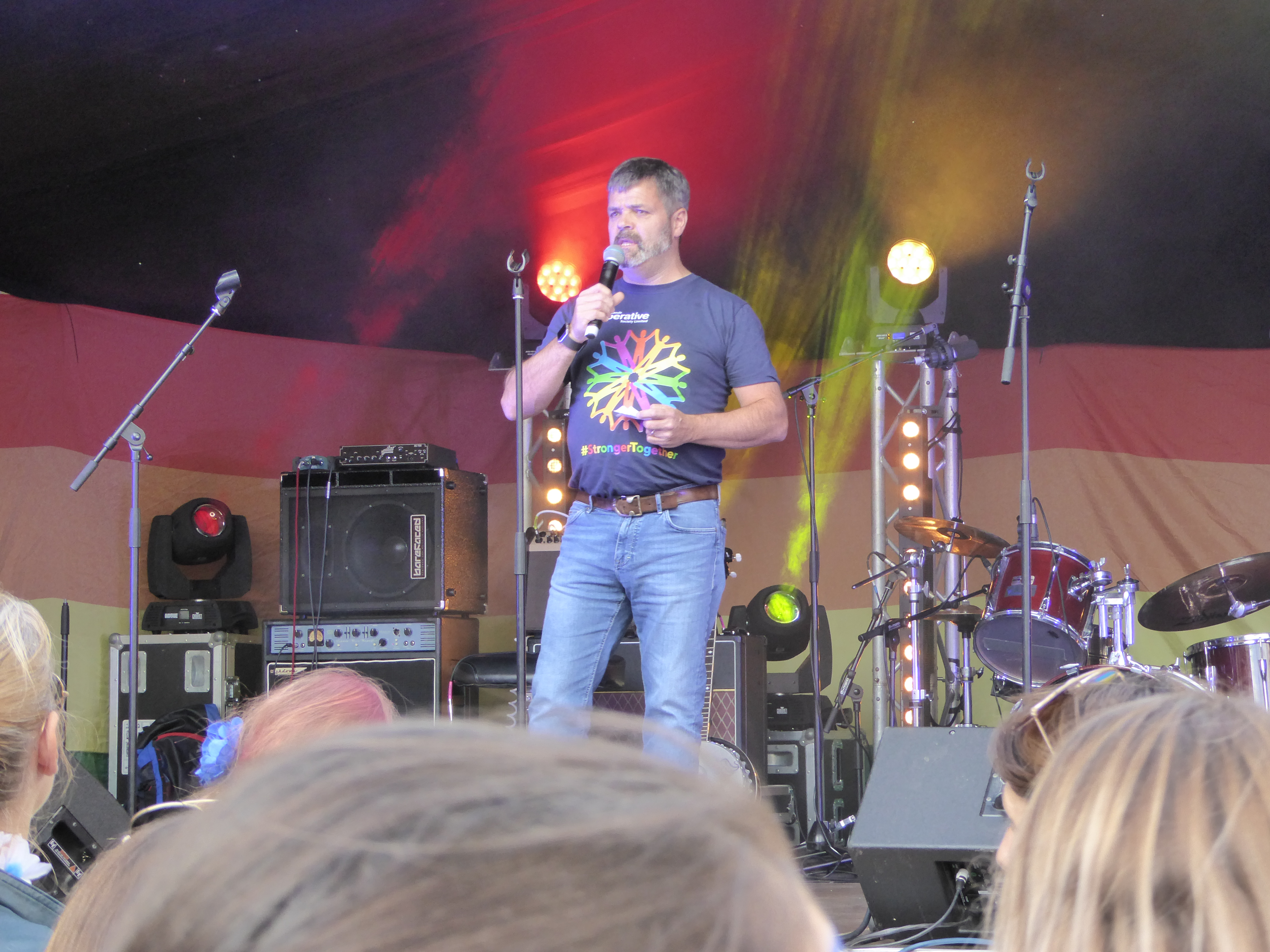 Photo: C I Pride welcome speeches on stage