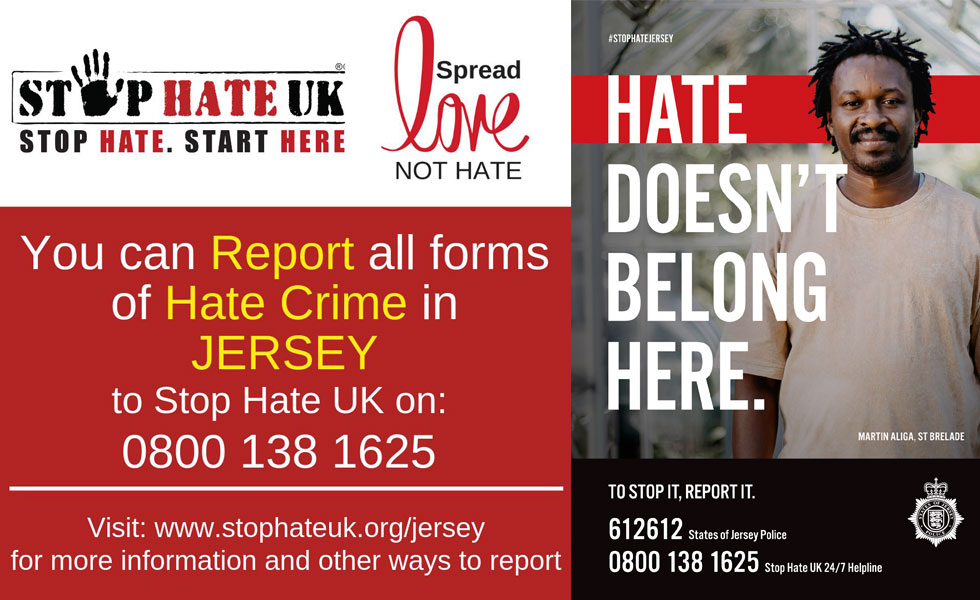 Poster: stop hate U K, hate doesn't belong here