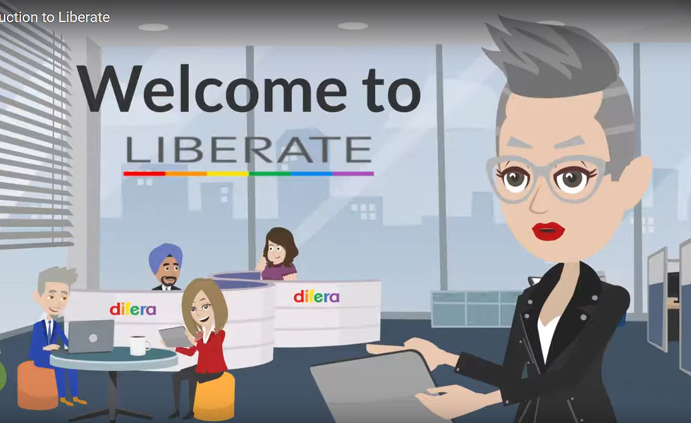 Pic: A cartoon version of Liberate's offices