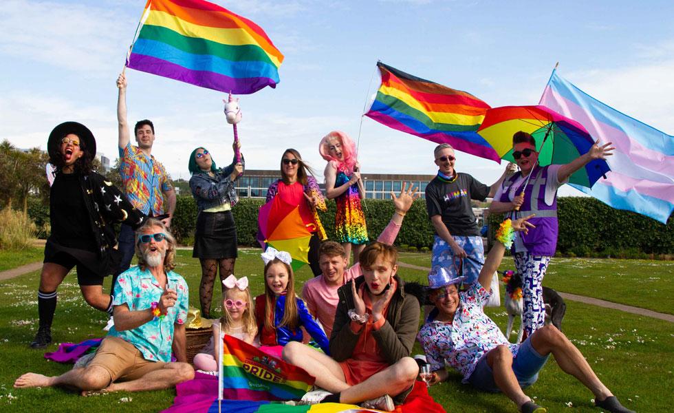 Photo: Pride volunteers 2021