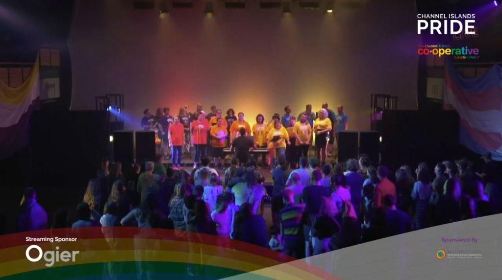Photo: The Rainbow Chorus at CI Pride